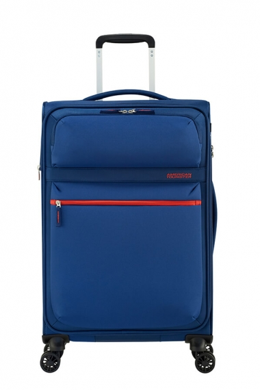 American Tourister Matchup 4-Hjul 67cm - Mellanstor Expanderbar Neon Blue