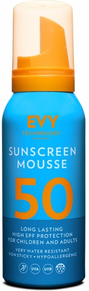 Solskydd Mousse SPF 50 - EVY Technology